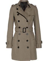 Burberry Prorsum Mid-Length Cotton-Gabardine Trench Coat - Lyst