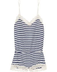 Eberjey Maritime Striped Stretch Jersey Playsuit - Lyst