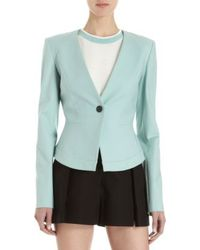 Icb - One Button Peplum Back Suit Jacket - Lyst