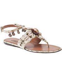 Alaïa White Shells Sandal - Lyst