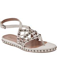 Alaïa White Leather Sandals - Lyst