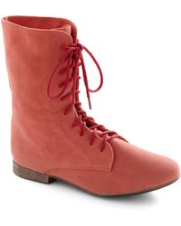 ModCloth | Lady in Rad Boot in Salmon | Lyst