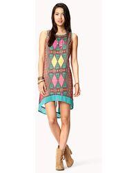 Forever 21 Colorblocked Mini Skirt - Lyst