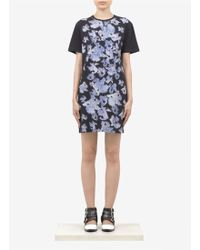 McQ by Alexander McQueen Iris Printed Cotton Jersey Dress - Lyst