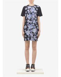 McQ by Alexander McQueen Iris Printed Cotton Jersey Dress - Lyst