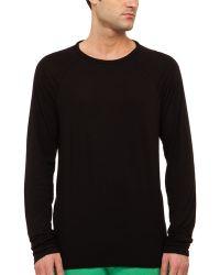 Splendid Mills Longsleeve Jersey Crewneck T-Shirt - Lyst