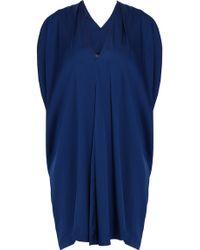 Vince Silk Double V Dress - Lyst