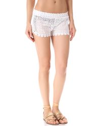 OndadeMar - Sea Of White Cover Up Shorts - Lyst