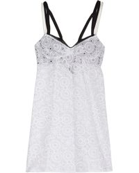 The Lake & Stars - Beach House Embroidered Cotton Chemise - Lyst