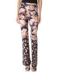 Jean Paul Gaultier - Print Flare Trousers - Lyst
