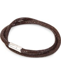 Tateossian Scoubidou Stingrayprint Leather Bracelet Brown - Lyst