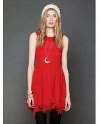 Free People Lace Dream Dress - Lyst
