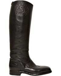Alberto Fasciani 30Mm Embossed Buffalo Leather Boots - Lyst