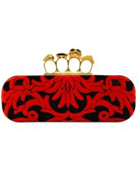 Alexander McQueen Baroque Knuckle box Clutch - Lyst