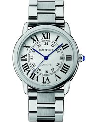 Cartier Ronde Solo Extra-Large Stainless Steel Bracelet Watch - Lyst