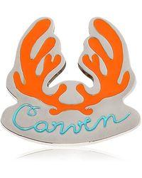 Carven - Antlers Logo Metal Pin - Lyst