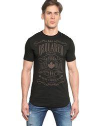 DSquared² Jazz Band Cotton Jersey T-Shirt - Lyst