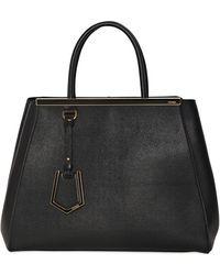 Fendi Medium 2Jours Textured Leather Bag - Lyst