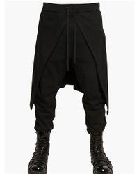 Gareth Pugh | Cuffs Zipped Cotton Wool Fleece Panelled | Lyst
