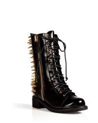 Giuseppe Zanotti Studded Boxcalf Boots  - Lyst