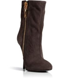 Giuseppe Zanotti Suede Ankle Boots In Flan - Lyst