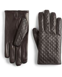 Gucci Microsima Leather Gloves - Lyst