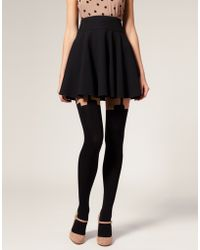House of Holland - For Pretty Polly Super Suspender Tights - Lyst