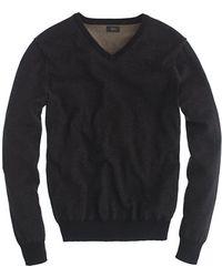 J.Crew Rugged Cotton V-Neck Sweater - Lyst