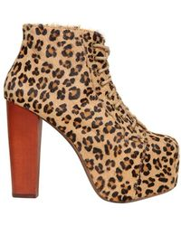Jeffrey Campbell 120Mm Leopard Printed Ponyskin Boots - Lyst