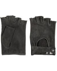 John Varvatos - Fingerless Suede Gloves - Lyst
