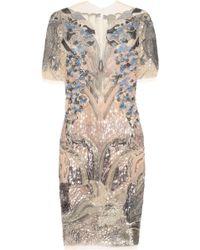 Julien Macdonald Fuji Embellished Tulle Dress - Lyst