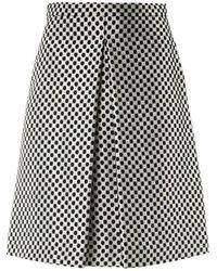 OSMAN - Checkered Brocade Skirt - Lyst