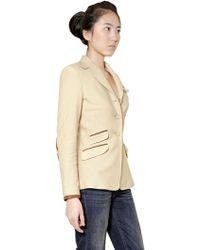 Ralph Lauren Blue Label - Knit Twill Riding Jacket - Lyst