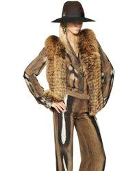 Roberto Cavalli Weasel Tricot Fox Fur Vest - Lyst