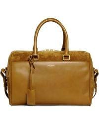 Saint Laurent Duffle 6 Suede &Leather Top Handle Bag - Lyst