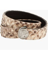 Balmain - Grey and Taupe Python Bracelet - Lyst