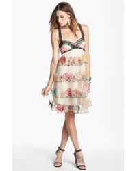 Free People Ramble Rose Embroidered Dress - Lyst