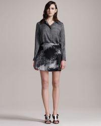 Kelly Wearstler Swagger Leather Skirt - Lyst