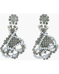 Tom Binns - Black Diamond Crystal and Tangled Pearl Regal Rocker Earrings - Lyst