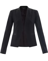 Theory - Lanai Leather Trimmed Blazer - Lyst
