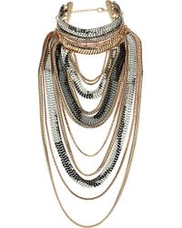 Topshop Mega Chain Drape Necklace - Lyst
