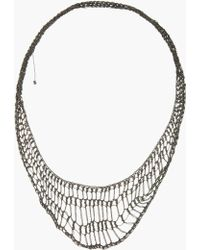 Arielle De Pinto - Oxidized Silver Handmade Midnight Lattice Collar Necklace - Lyst