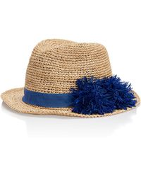 Tory Burch - Raffia Knit Hat - Lyst