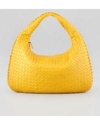 Bottega Veneta Intrecciato Medium Hobo Bag Yellow - Lyst