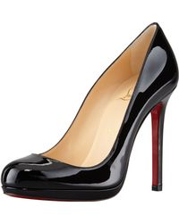 Christian Louboutin Neofilo Patent Roundtoe Red Sole Pump Black - Lyst