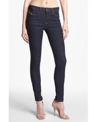 Diesel Skinzee Skinny Stretch Jeans Dark Denim - Lyst