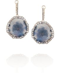 Kimberly Mcdonald - 18karat Rose Gold Geode and Diamond Earrings - Lyst