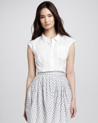 Marc By Marc Jacobs Womens Tiffany Check-pattern Blouse - Lyst