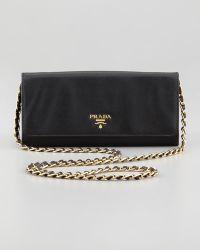 Prada Saffiano Wallet On A Chain - Lyst