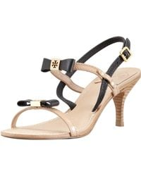 Tory Burch Kailey Twotone Bow Sandal - Lyst